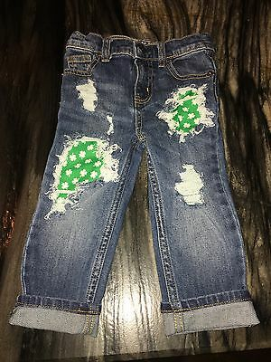 Unisex Children's Distressed St Patrick's Skinny Jeans Size 24 Months