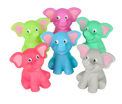 Fun Express 12-pack Colorful 2-inch Rubber Elephant  - Item #102037