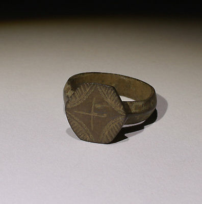 Quality Ancient Medieval Bronze Ring - Circa 14Th Century  - No Reserve!!