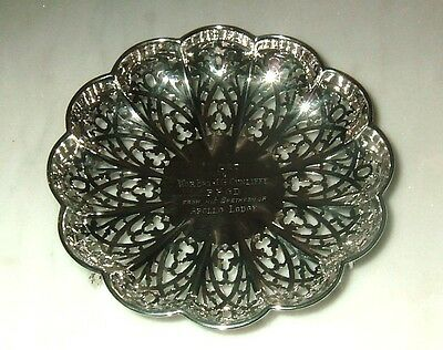 VINTAGE SOLID SILVER FOOTED DISH CENTREPIECE FRUIT BOWL SHEFFIELD 1922  168gm
