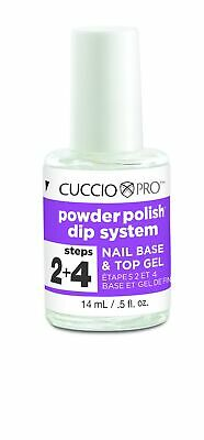 Cuccio Powder Polish Dip System Nail Base & Top Gel 14ml (Steps 2 & 4) (5502)