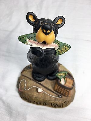 "Big Sky Carvers Barefoots Bear By Jeff Fleming Figurine ""Catch & Do What?"""