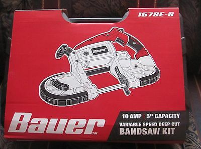 NEW BAUER BAND SAW WITH CASE model 1678E-B