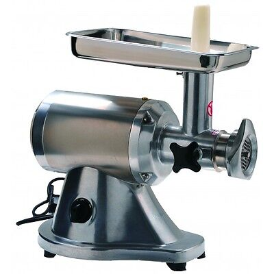 New Commercial Stainless Steel True 1HP Electric Meat Sausage Grinder No #12
