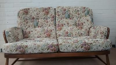 CHINTZ CUSHION SET for  ERCOL 2 SEATER JUBILEE SOFA / COUCH