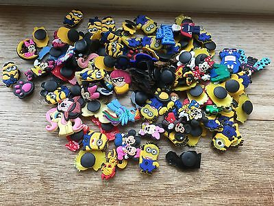 100 Mixed Shoe Charms Disney Minions Froxwn Mlp Etc  Jibbitz  Croc Toppers