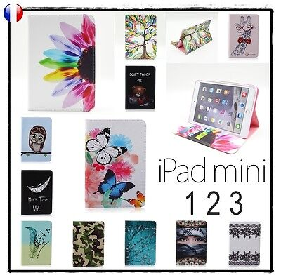 Etui Coque Housse Cuir PU Leather Card Slot Cover Stand Case iPad Mini 1 2 3