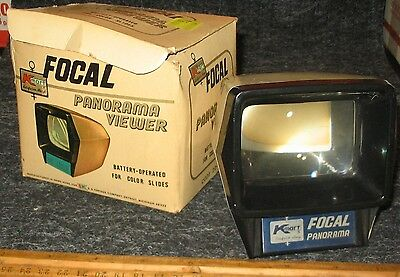 K-mart Focal PANORAMA VIEWER w/ BOX for slides battery-operated not tested as is