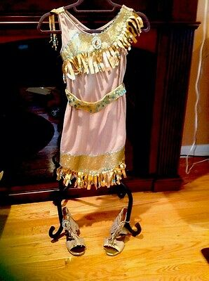 Disney Pocahontas costume With Shoes  size M 7/8 Very Cute