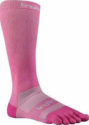 Injinji Ex-Celorator Compression2.0 Over-the-Calf Toe Socks Pink-S(Torn Package)