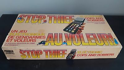 STOP THIEF Electronics Cops and Robbers Board Game Parker Brothers Vintage 1979