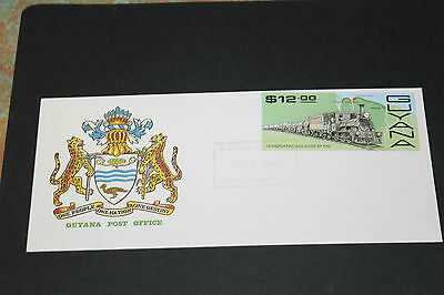 Guyana 1987 Locomotive  Trains First Day Cover