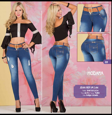 JEANS COLOMBIANOS, M144 Authentic Colombian, Push Up Jeans, Jean Levanta Cola