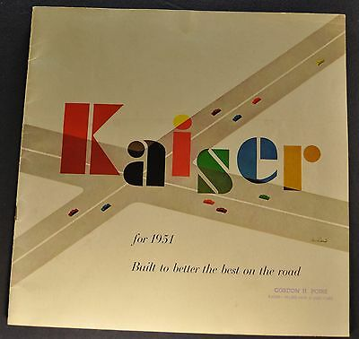 1951 Kaiser Large 24pg Catalog Brochure Traveler Special Excellent Original 51
