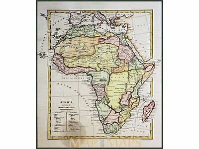 Africa including the Mediterranean Wilkinson 1794.