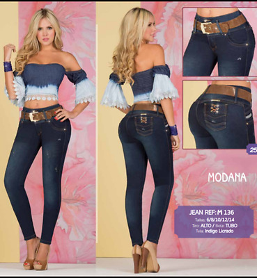 JEANS COLOMBIANOS, M136  Authentic Colombian, Push Up Jeans, Jean Levanta Cola