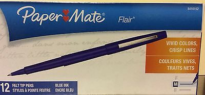 Papermate Point Guard Flair blue ink, Med Point, 1 Dozen, - PAP8410152 (New)