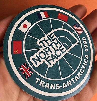 NOS VINTAGE 1990 The North Face TRANS-ANTARCTICA Expedition Sticker VERY RARE