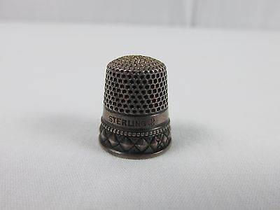 Antique Vintage Sterling Silver Thimble by Stern Bros. Anchor Hallmark