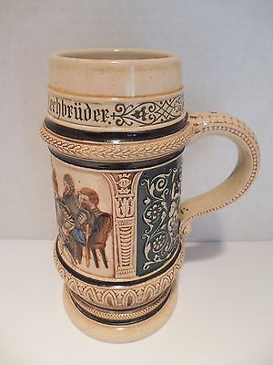 Large Beer Stein Mug Germany 368 Early 1900s Knights