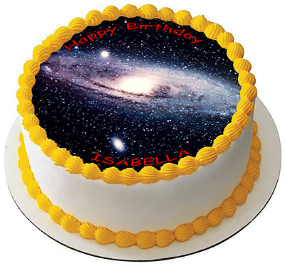 GALAXY 7.5 PREMIUM Edible ICING Cake Topper CAN BE PERSONALISED D1