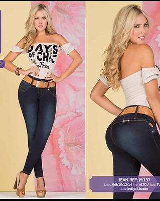JEANS COLOMBIANOS, M137  Authentic Colombian, Push Up Jeans, Jean Levanta Cola