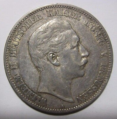 1907A - 5 Mark  Silver Coin from Germany/Prussia