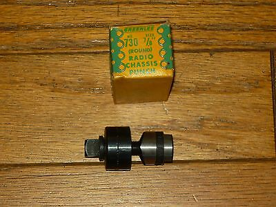 """Greenlee 7/8"""" Round conduit Tube Radio Chassis Knockout Punch 730 Tool"""
