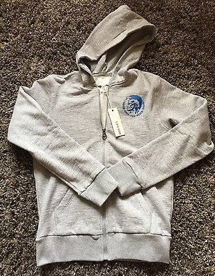 New Boys Diesel Industry Zip Up Hoodie Size 14 Free Shipping!