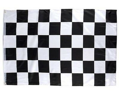 LEMO 3 x 5 ft Nascar Black&White Checkered Racing Flag