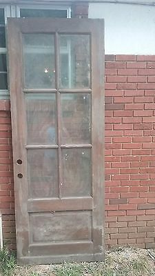 Vintage Oak Beveled Glass door with molding
