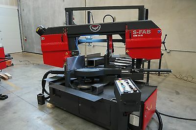 "NEW RMT S-FAB CDM 18""x25"" Semiautomatic Column Type Double Miter Bandsaw"