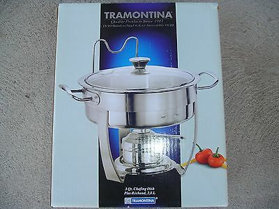 Tramontina Stainless Steel Chafing Dish 3 Quart New