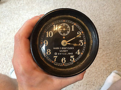 Original Vintage SETH THOMAS U.S. NAVY MARK I-BOAT CLOCK