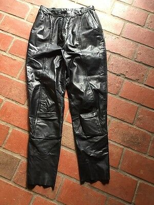 Ladies Vintage 80's Leather Pants. High Waisted, Fully Lined. Great Quality