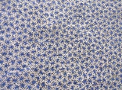 ~Back In Time Textiles~ Antique 1860 Lancaster blue sprig fabric pieces~