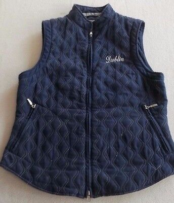 Dublin Blue Quilted Riding / Equestrian  Vest / Sleeveless Jacket SZ M