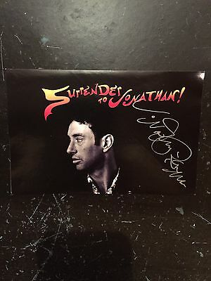 """Jonathan Richman Autographed Promo Sticker for """"Surrender To Jonathan"""" 1996"""