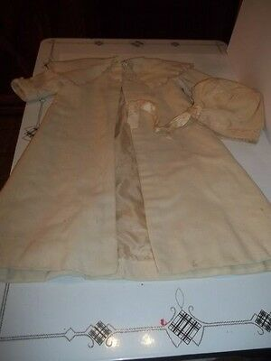 Antique  childs  Jacket Coat And Hat,  SATIN LINNING