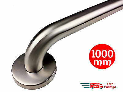 SAFETY RAIL 1000mm GRAB BAR STAINLESS STEEL PULL HANDLE HAND BATHROOM HANDRAIL