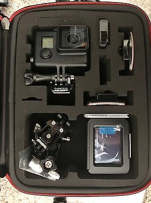 GoPro Hero 4 Black 4K, 1080P, with Smatree Case And Accessories