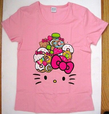Hello Kitty Pop Up Food Truck Cafe Pink T-Shirt Women's Size Small *brand New*