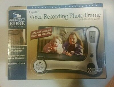 Journey's Edge,digital Voice Recording Photo Frame With Built-In Lcd Clock,new