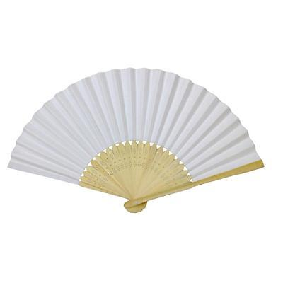 PAPER HAND FANS Folding Fan Wedding Party Favor NEW Bamboo CN