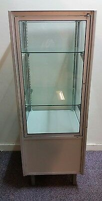 glass shop display cabinet with key