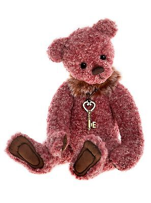 Audrey is a fully jointed plush Teddy Bear from Charlie Bears