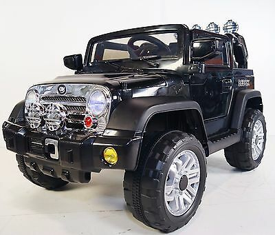 JEEP Wrangler Style For Kids Model JJ235 Ride On Car With Remote Control Black