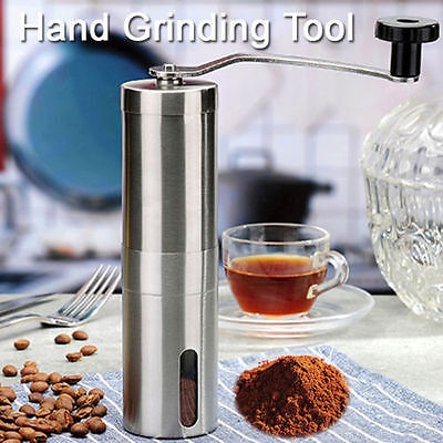 Stainless Steel Manual Coffee Bean Grinder Spice / Nuts Grinding Mill Hand Tool