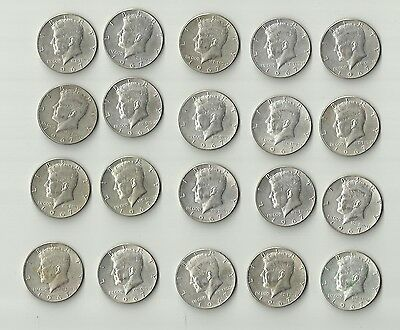 Lot Of 1967 50C Kennedy Half Dollars! (20 Coins) A3 40 % Silver