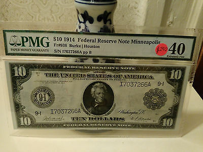 1914 10 federal reserve note-Minneapolis